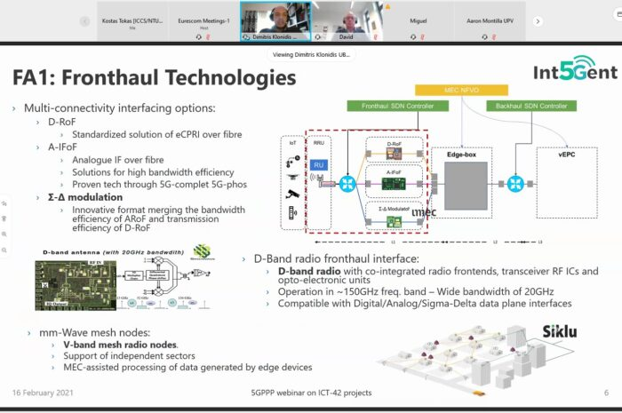 Int5Gent at 5G-PPP Technical Board Webinar!